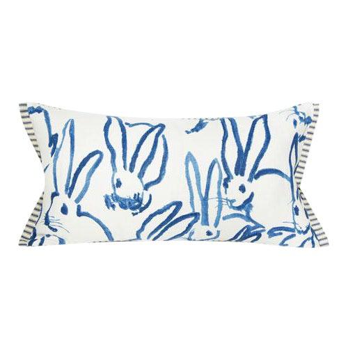 Blue Bunny Lumbar Pillow For Sale