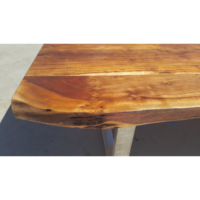 Acacia Wood Live Edge Dining Table - Image 5 of 8