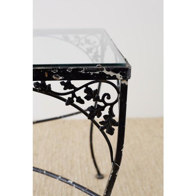 Salterini Salterini Style Wrought Iron Patio Garden Table For Sale - Image 4 of 13