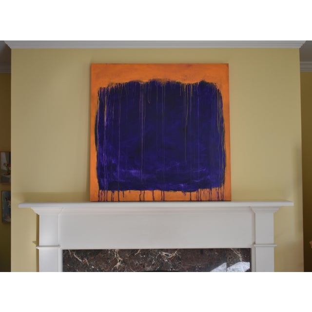 """Canvas Stephen Remick """"Tempest"""" Abstract Painting For Sale - Image 7 of 12"""