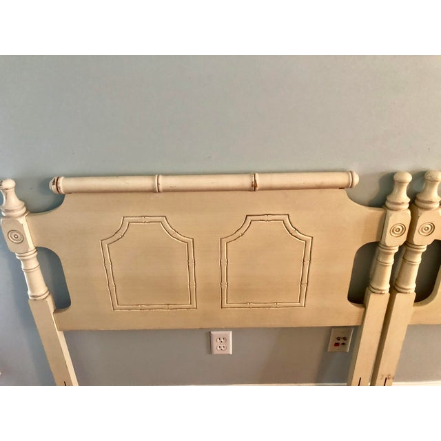 Faux Bamboo Pagoda Twin Headboards- a Pair For Sale In Charleston - Image 6 of 9