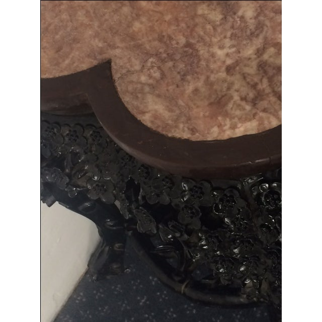 Antique Asian Clover Leaf Marble Top Table For Sale In Philadelphia - Image 6 of 9