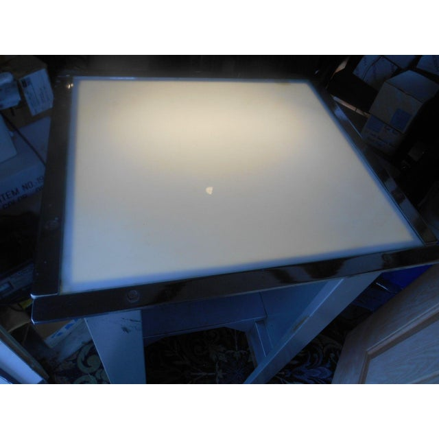 Industrial Metal Light-Up Tracing Work Table For Sale - Image 5 of 6