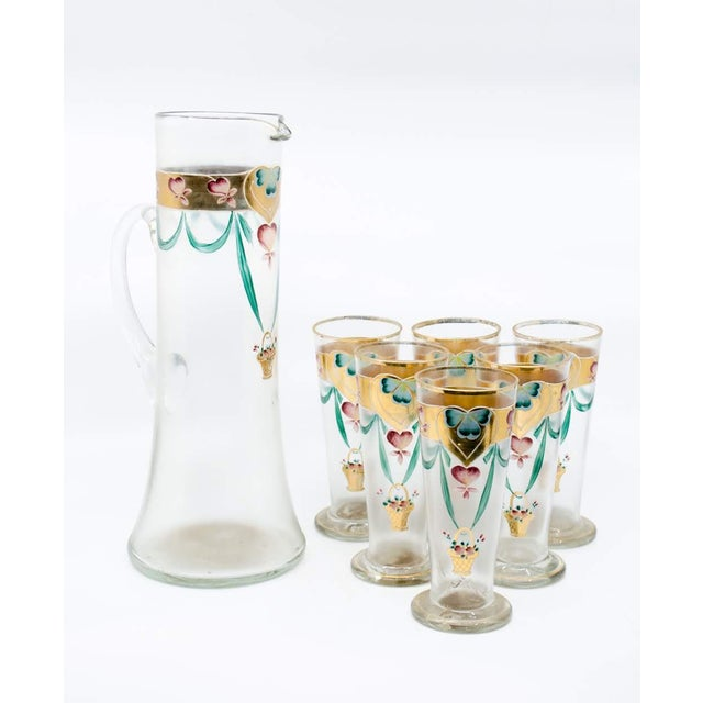 Make summer a little sweeter with this charming 1900's Victorian lemonade/juice glass set. The set includes 6 short...