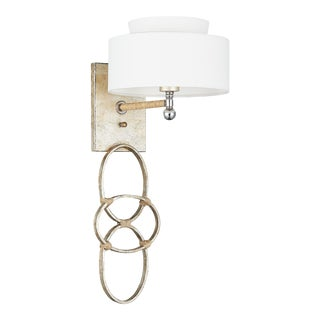 Jackie O Wall Sconce in Silver For Sale