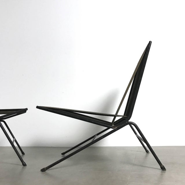 Industrial Allan Gould String Lounge Chair and Ottoman, 1952 For Sale - Image 3 of 10