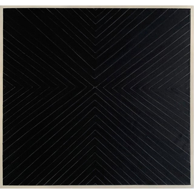 Contemporary Black Geometric Abstract Painting For Sale - Image 12 of 12
