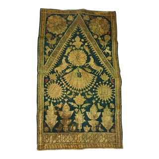 19th Century Antique Islamic Ottoman Empire Persian Textile Metallic Embroidered For Sale