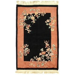 Pasargad DC Chinese Art Deco Area Rug - 4′2″ × 6′ For Sale