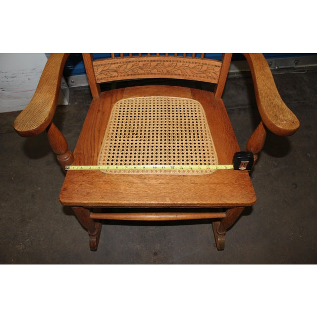 Early 1900s Wood Rocking Chair For Sale - Image 4 of 9