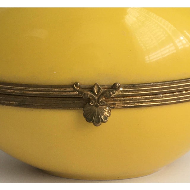 1970s Chamart Co Exclusive Limoges, France Porcelain Trinket Box, Yellow Egg For Sale - Image 11 of 13