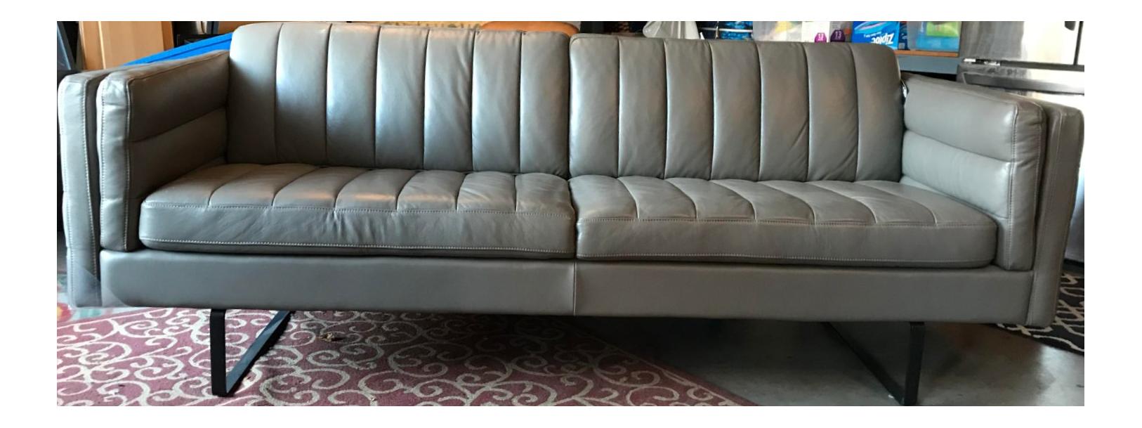Modern Italian Mid Century Style Leather Sofa Chairish