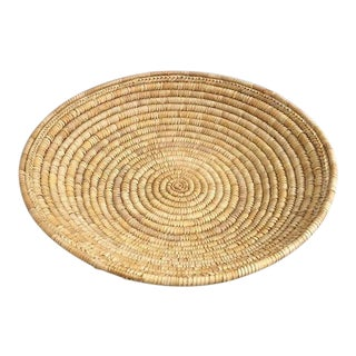 Large Woven Coil Basket For Sale