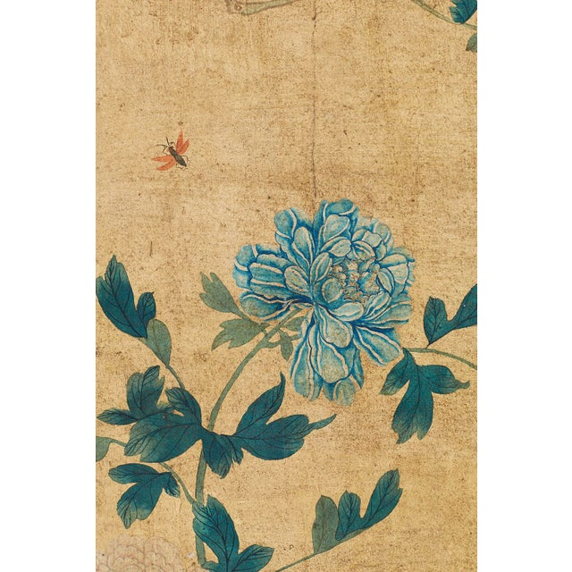 Continental Painted Chinoiserie Wallpaper Screen With Decoupage For Sale In San Francisco - Image 6 of 13