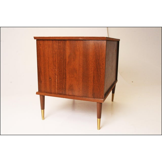 Vintage Mid-Century Modern Record Storage Cabinet For Sale - Image 4 of 11