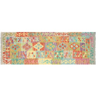 "Nalbandian - Contemporary Afghan Maimana Kilim Runner - 2'1"" X 6'1"" For Sale"