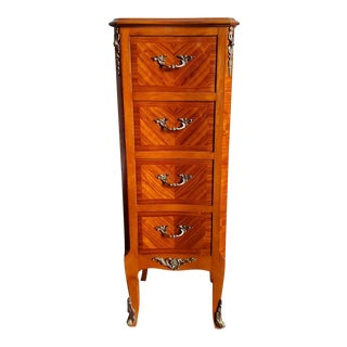 Mid-Century French Louis XV Ormulu Mounted Chest of Drawers For Sale