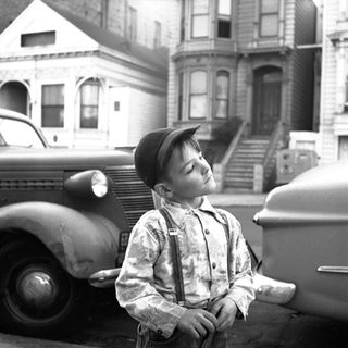 Boy W/ Suspenders Photograph by Gerald Ratto, 1952 For Sale
