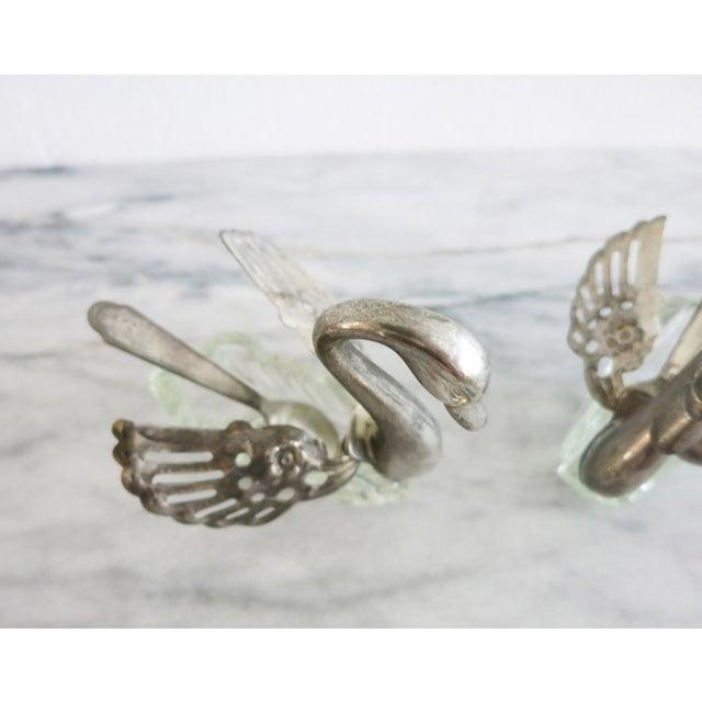 Art Deco Vintage Godinger Swans Salt Well - Set of 4 For Sale - Image 3 of 10