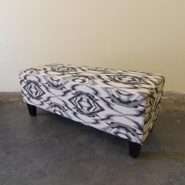 Contemporary White and Grey Ottoman/Stool - Image 2 of 6