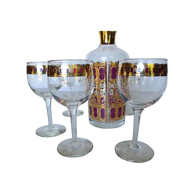 Mid Century 6-Piece Bar Set with Carafe - Image 2 of 7