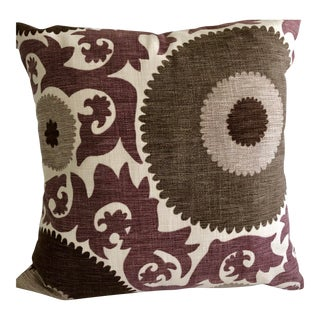 "Suzani Fahri Grape Design 20"" Pillows (2 Available) For Sale"