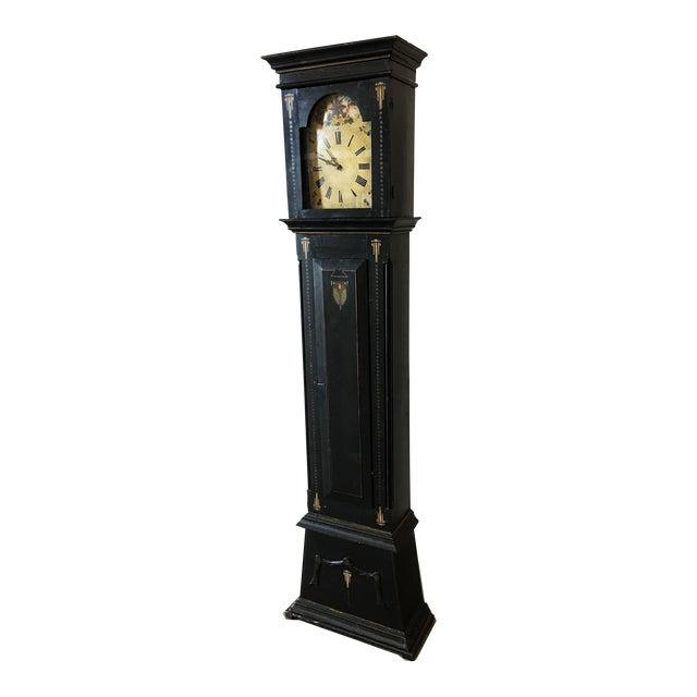 19th Century Danish Empire Long Case Clock For Sale