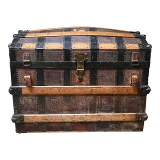 19th Century Victorian Steamer Trunk For Sale