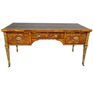 Fine Victorian Satinwood and Painted Writing Table For Sale
