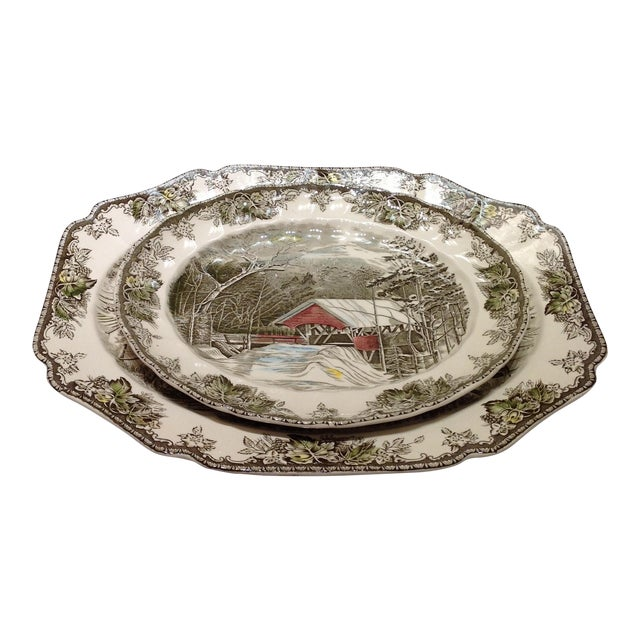 English Platters by Johnson Bros - Set of 2 - Image 1 of 10