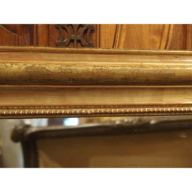 19th Century French Louis Philippe Giltwood Mirror For Sale - Image 9 of 11