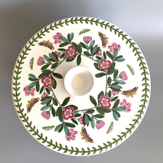 English Portmeirion Botanic Garden Rhododendron Covered Casserole Tureen For Sale - Image 4 of 12
