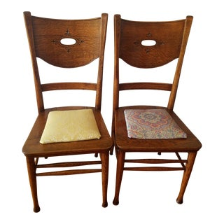 Vintage Drop-In Seat Side Chairs - a Pair For Sale