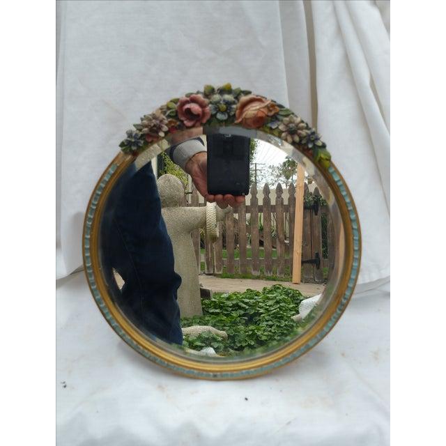 Rose Garland Barbola Mirror - Image 4 of 7