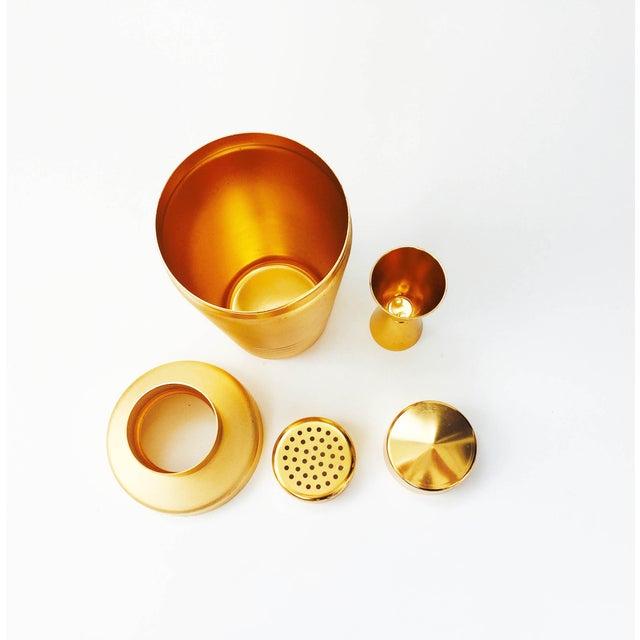 Vintage Mirro Gold Aluminum Cocktail Shaker Set - Image 5 of 6