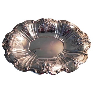 1955 Reed and Barton Francis I Oval Sterling Silver Footed Centerpiece Bowl For Sale