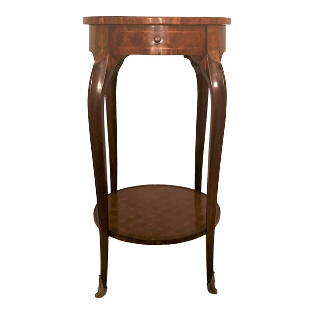 Antique Exceptional Inlaid Parquetry Table, Circa 1860-1870. For Sale