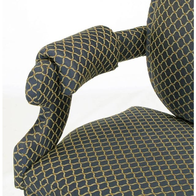Four Louis Modern Custom Dining Armchairs - Image 8 of 9
