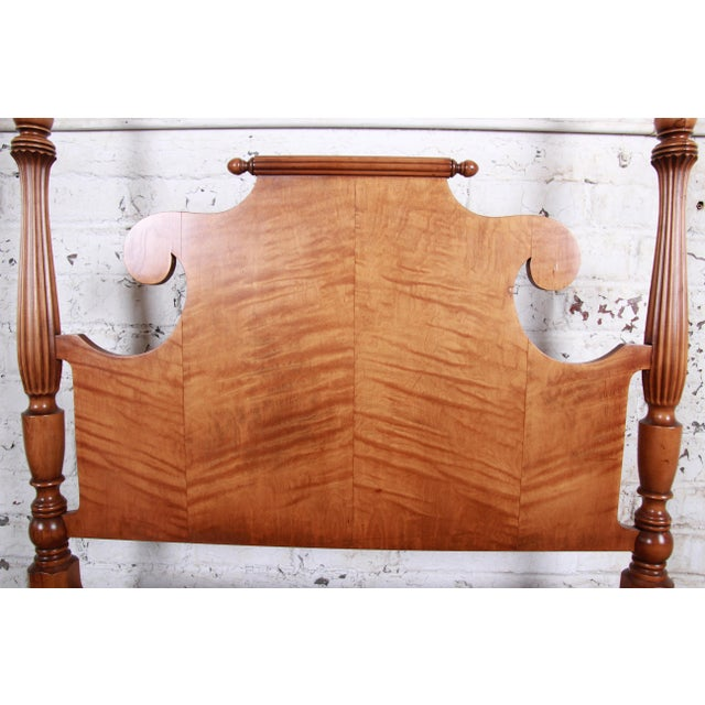 Vintage Tiger Maple Twin Pineapple Poster Beds-A Pair For Sale - Image 10 of 13