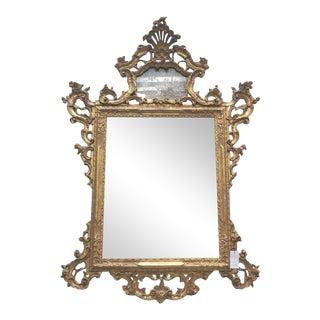 Venetian Gilt Rococo Mirror With Mercury Glass For Sale