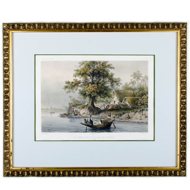 Hooghly River Print by Auguste-Nicolas Vaillant For Sale