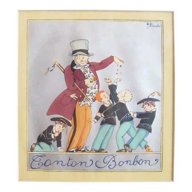 1920s Original French Art Deco Poster, Tonton Bonbon - J  Duche