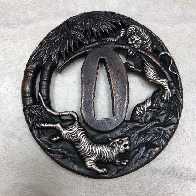 Vintage Japanese Tsuba's - Set of 6 For Sale - Image 10 of 12
