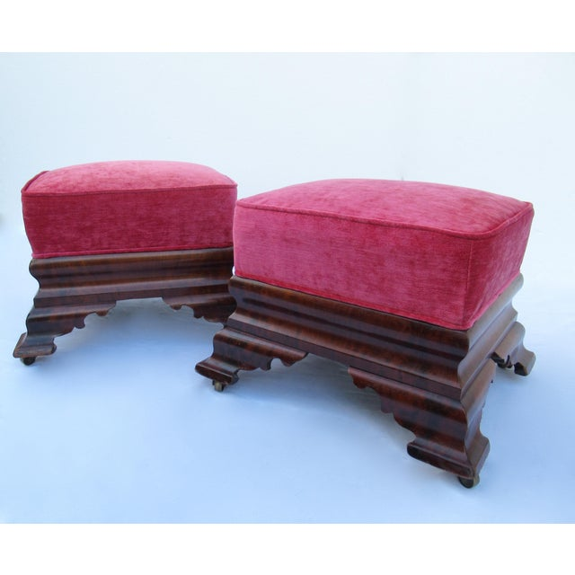 Late 19th Century C.1840s-90s, Vintage Joseph Meeks & Sons Mahogany Ottomans - a Pair For Sale - Image 5 of 13