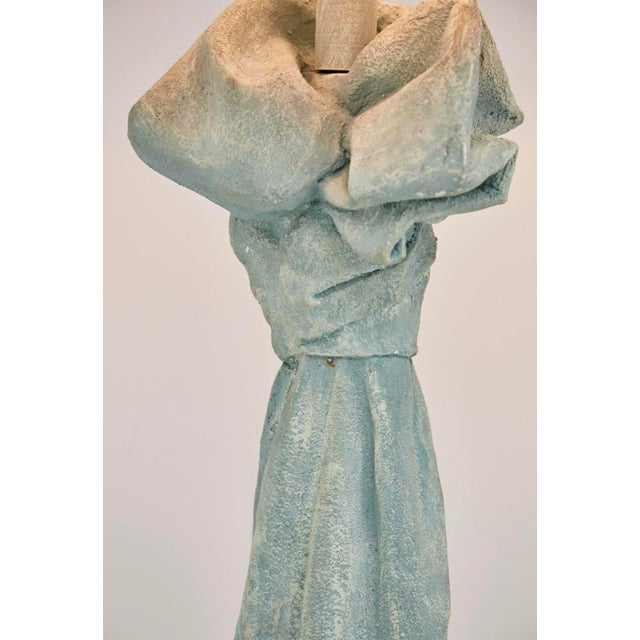 Vintage Dickinson Style Plaster Floor Lamp in Form of Draped Cloth For Sale In Tampa - Image 6 of 11