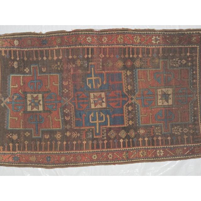 "Leon Banilivi Kazak Brown Wool Rug - 5'6"" X 3'2"" - Image 6 of 7"