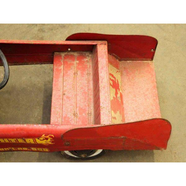 Vintage Child's Red Fire Engine For Sale - Image 9 of 9