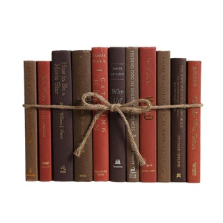 Modern Cobblestone ColorPak : Decorative Books in Shades of Warm Red and Brown