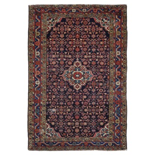 Antique Hamadan Persian Rug with Herati Design