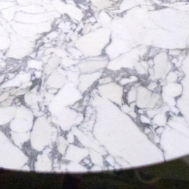 "Mid 20th Century Nicos Zographos Round Carrara Marble ""Alpha"" Dining or Conference Table For Sale - Image 5 of 13"